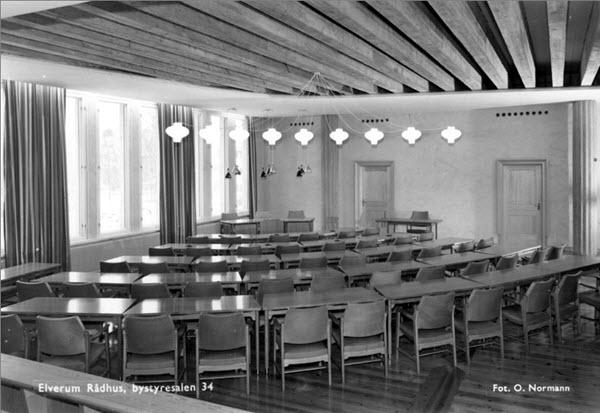 Elverum Rådhus, bystyresalen