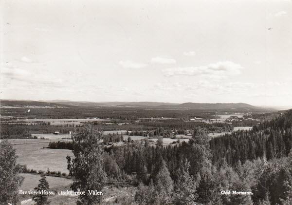 Braskereidfoss, utsikt mot Våler.
